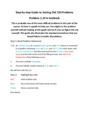 ChE 330 Fall 2013 How to solve 2.24.docx