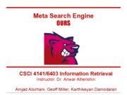 Search Engine Final Project Demonstration