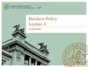 Business policy lecture 4