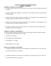 Printables Empirical And Molecular Formula Worksheet molecular empirical formulas 1 28 2 potassium 25 6 chlorine 46 2