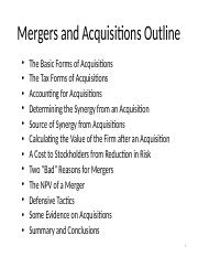 MAF2002_Chapter30_Mergers&Acqusitions_Notes.pptx