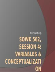 Session 4 Lecture Notes Variables and Conceptualization