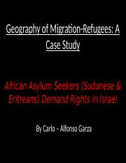 African Asylum Seekers (Sudanese & Eritreans).pptx