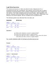 Logit Related questions.docx