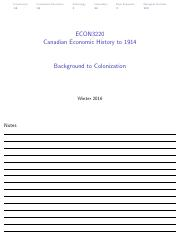 Background to Colonization