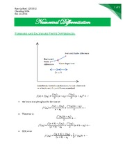 Lecture 5: Numerical Differentiation