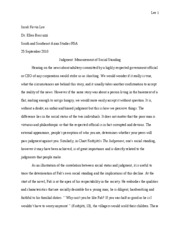 Paper #1 - The Judgment