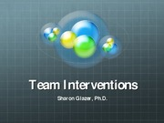 Week 12 Team Interventions