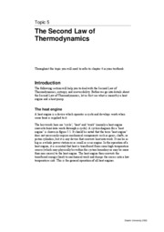 SEM314 Topic 5 - 2nd Law of Thermodynamics