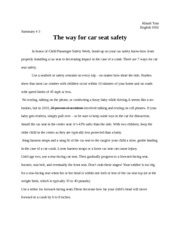 In honor of Child Passenger Safety Week