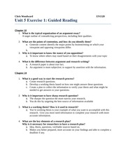 Unit 5 Exercise 1 Guided Reading