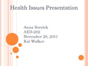 AED-202 wk 2- Health Isuue Presentation1