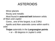 13 Asteroids