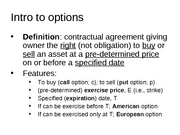 Intro to options