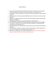 Quiz Chapter F 7 A Business That Purchases