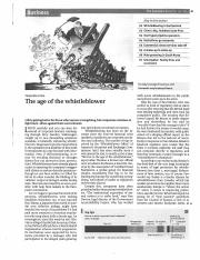 Age of the Whistleblower (Economist 12-5-15)