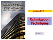 2 LECTURE 2, Appendix 1, Optimization Techniques (Winter 2013)