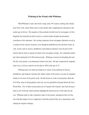 Walt Whitman Biography and Poetry Analysis