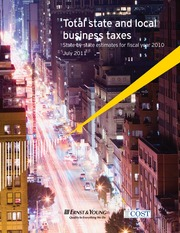 EY COST 2011 50-state total business tax report