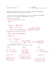 Math 125 Quiz 7 Key On Intermediate Algebra