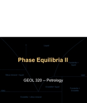 Lecture 6 Phase Equilibria II