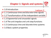 Module1 Signals and systems - Lecture 2
