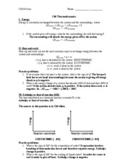 Ch9 Worksheet thermo key