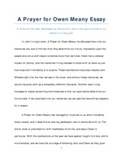 a prayer for owen meany documents course hero