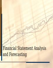 FIN 370 - Financial Statement Analysis and Forecasting