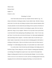 Perssuasive Essay -Technology