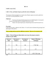 Worksheet for Punnett Squares Lab.rtf