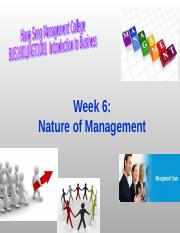 Week 6_Nature of Management_1617