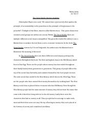 The Great Gatsby Literary Analysis .docx