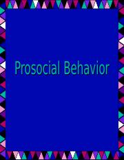Psy321 Prosocial Behavior