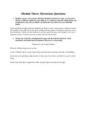 Module Three discussion questions.docx