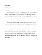 Essay Propsal 1 Attempt 2