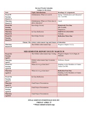 Revised Weekly Schedule-SP 2012(1)
