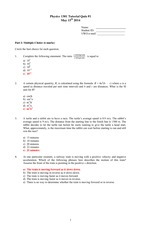 2014 P1301 Quiz 1 with solutions