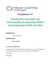 support children and young peoples health and safety 4 essay