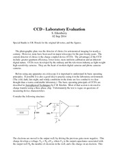 Study Guide on CCD Laboratory Experiment