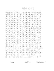 Typhoid Wordsearch
