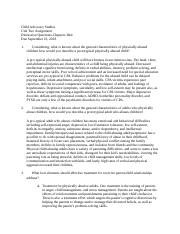 Child Advocacy Studies-Ch 3-4 Assignement of discussion questions.docx