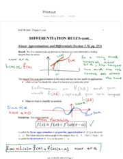 Midterm 2 Linear Approximations
