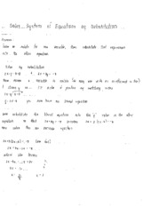Methods of Solving Systems of Equations Notes