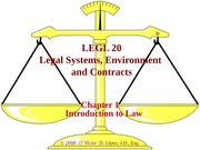 LEGL 20 - Ch 01 - Introduction to law