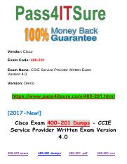 New Pass4itsure Cisco 400-201 Dumps.pdf