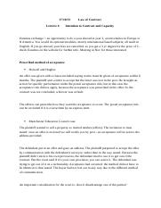 law of contract - lecture 6 - 17.10.13.docx