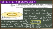 03b-Magnetic moment of a rotating disk