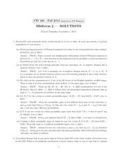 Midterm 2 Solutions
