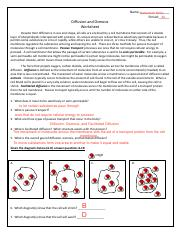 Diffusion Osmosis Pdf Name Nehemiah Hicks Period 4a Diffusion And Osmosis Worksheet Despite Their Difference In Size And Shape All Cells Are Course Hero